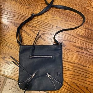 Linea Pelle Navy Crossbody Bag